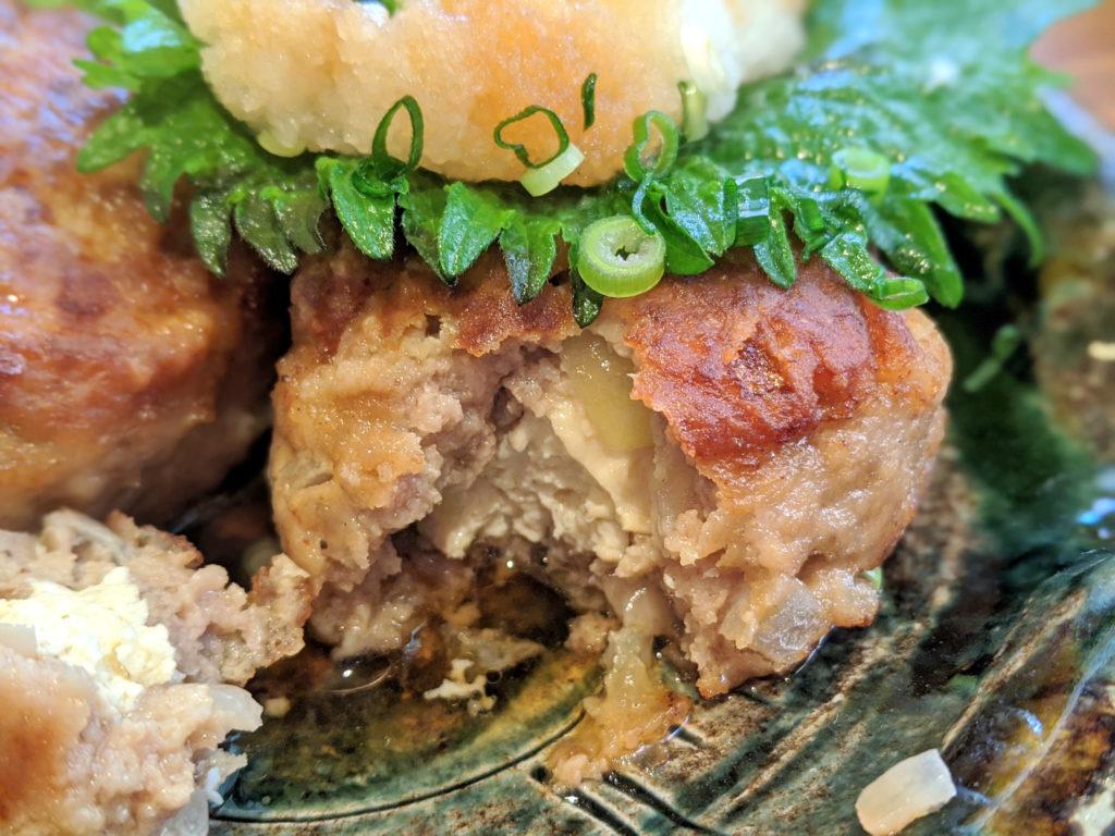 ハンバーグの中の豆腐