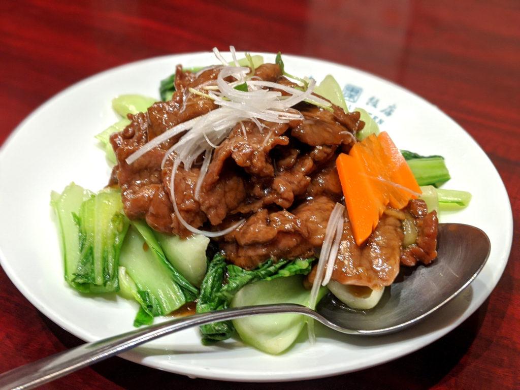 牛肉と時季野菜のカキソース炒め