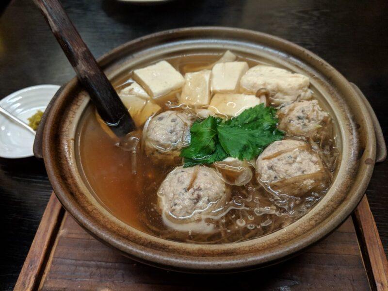 ツミレと豆腐の子鍋