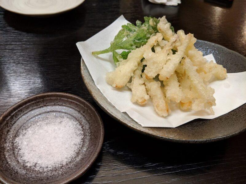 島らっきょの天ぷら