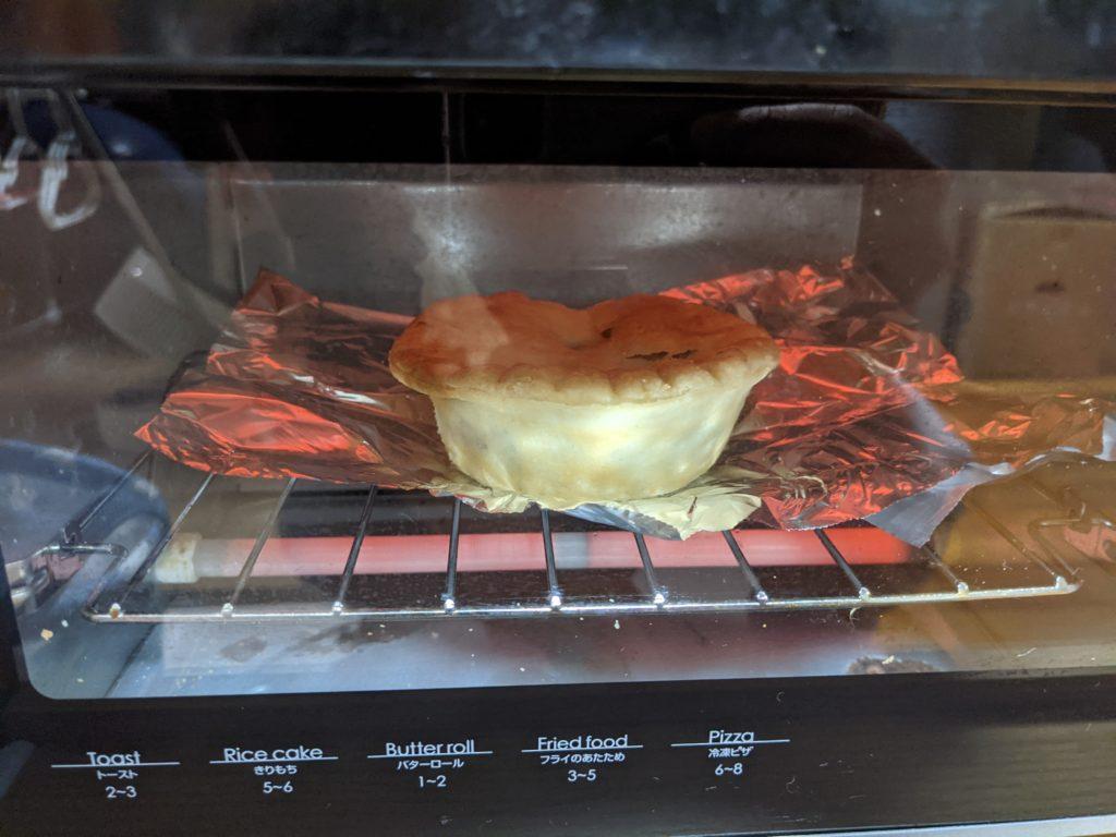 トースターで加熱