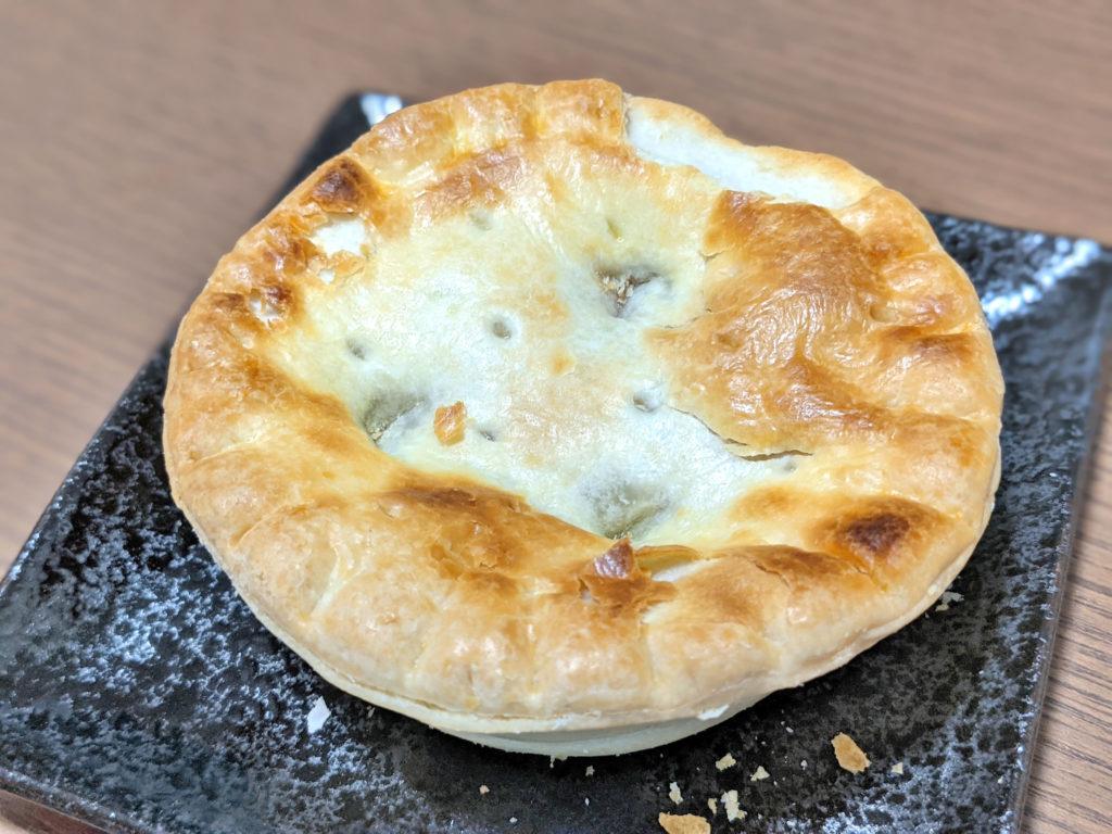 トースターで加熱したアップルパイ