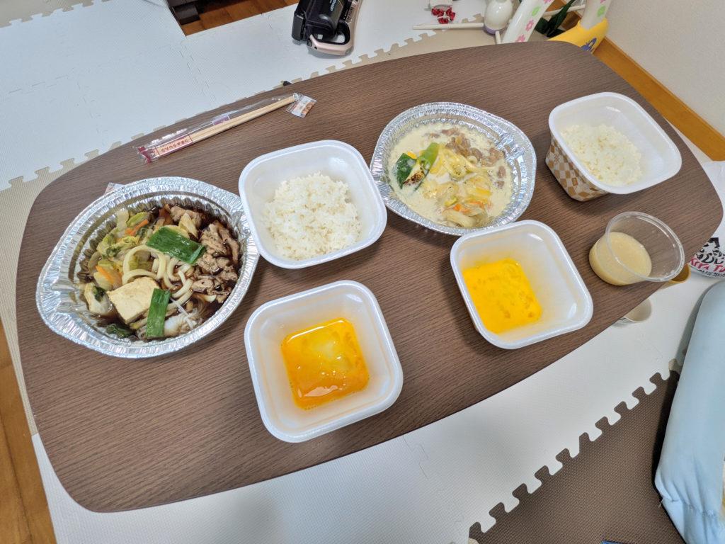 完成した牛すき鍋とチーズ豆乳牛鍋