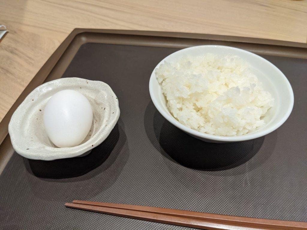 ライス(小)、温泉卵