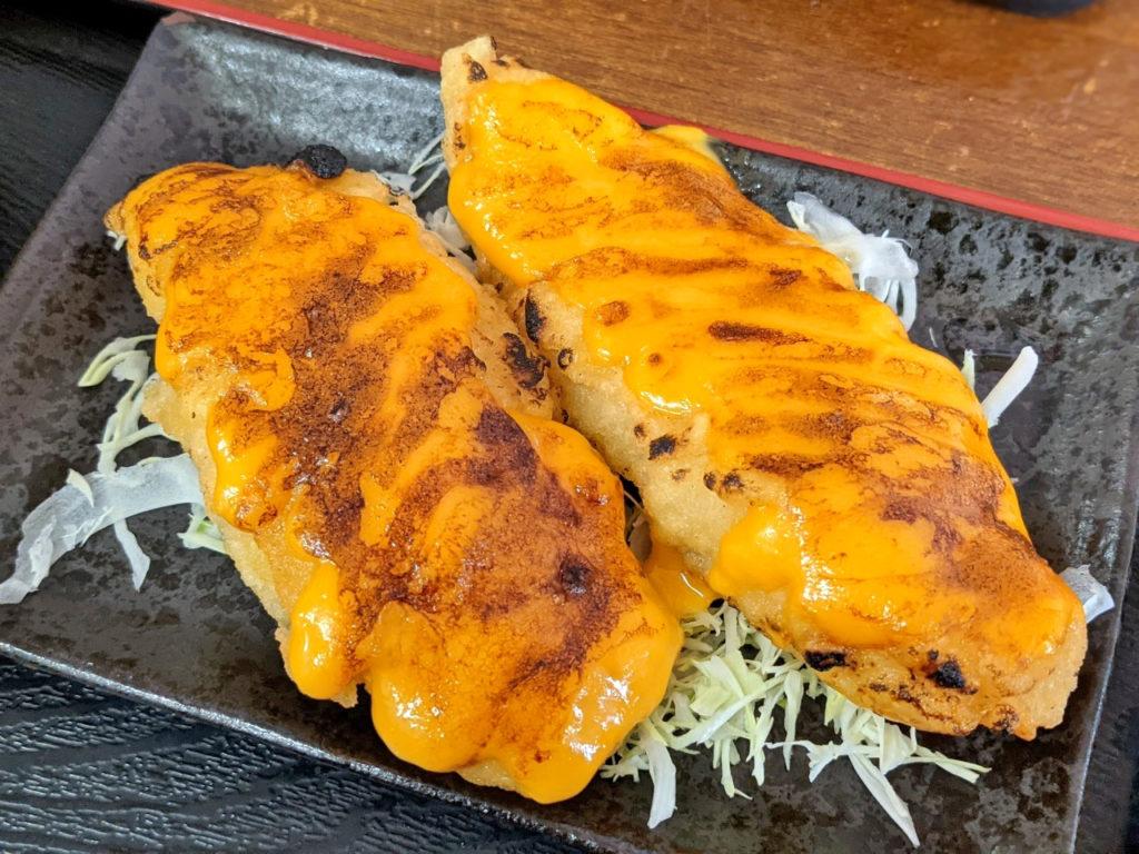 魚のウニソース焼き