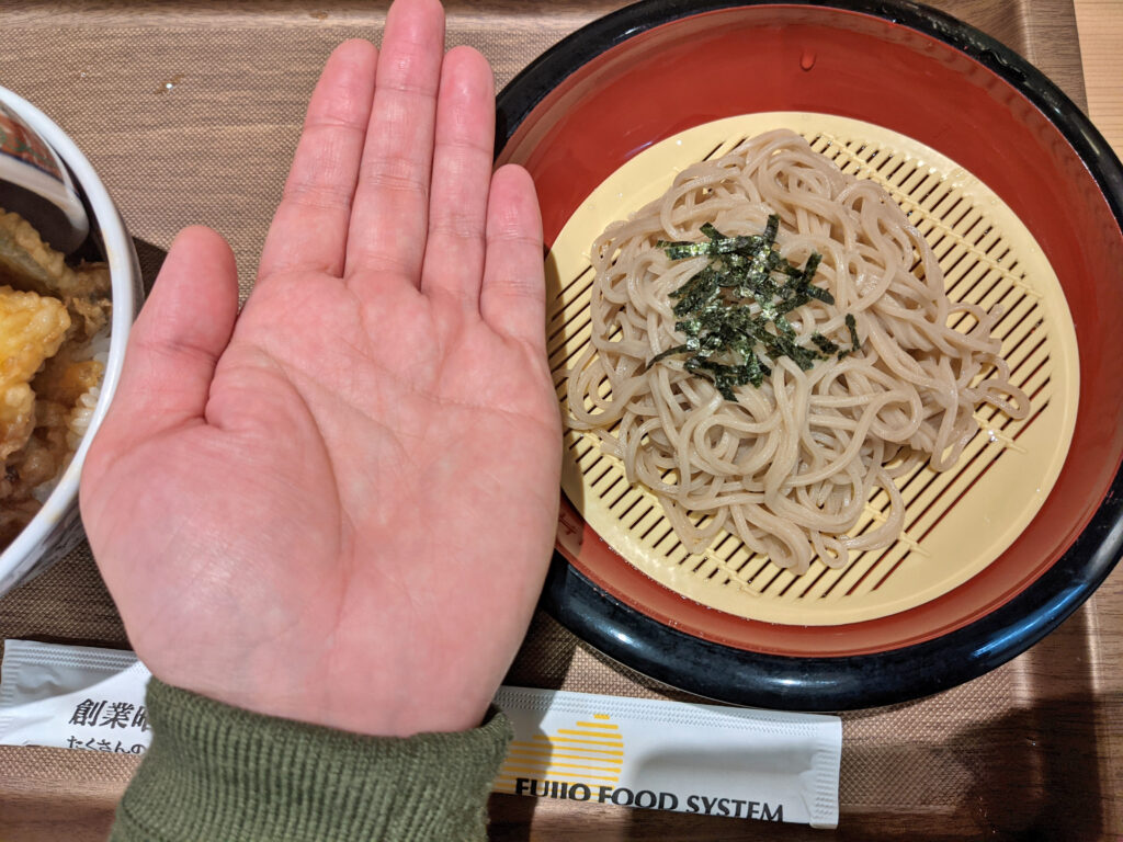 日本そばサイズ