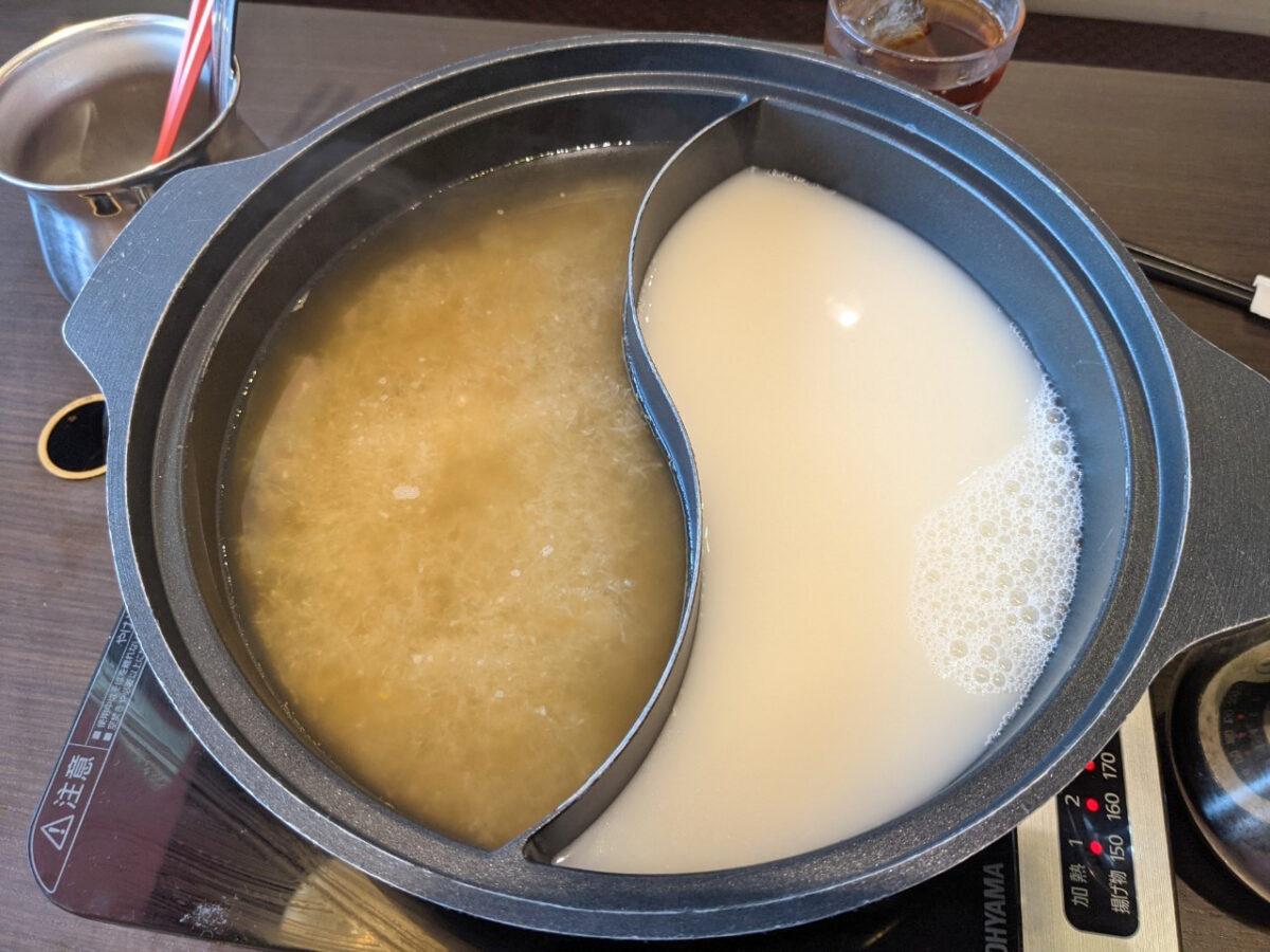 北海道産帆立と昆布の豆乳極だし、大根おろしたっぷり雪見鍋
